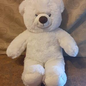 "Build•A•Bear Plush 15"" White Teddy Bear - VGC"